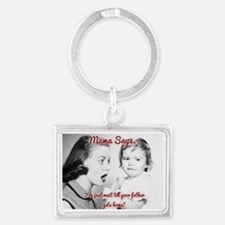 Father Gets Home Landscape Keychain