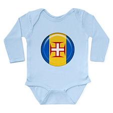 Madeira islands flag Long Sleeve Infant Bodysuit