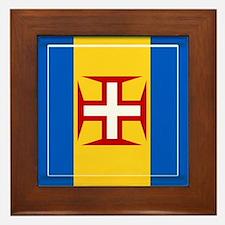 Madeira islands flag Framed Tile