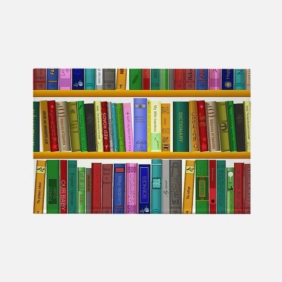 The bookshelf Rectangle Magnet