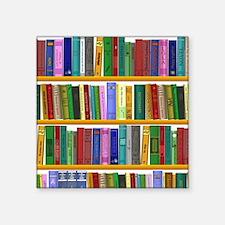 "The bookshelf Square Sticker 3"" x 3"""