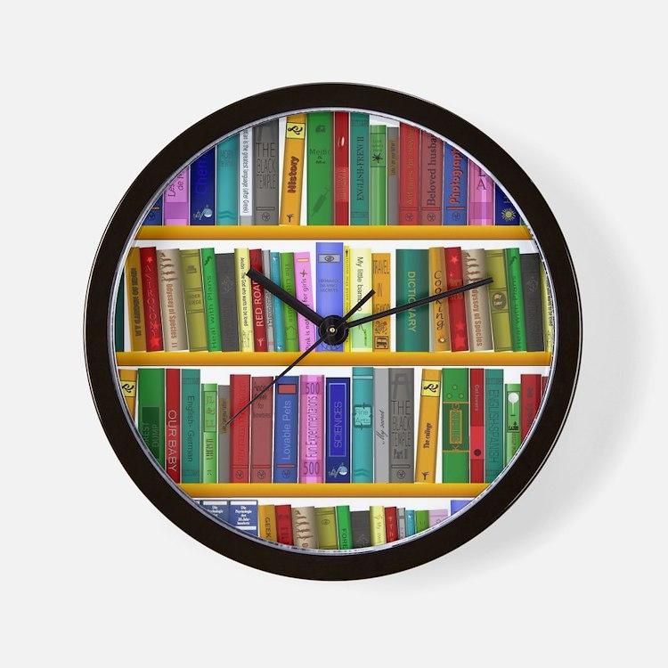 The bookshelf Wall Clock