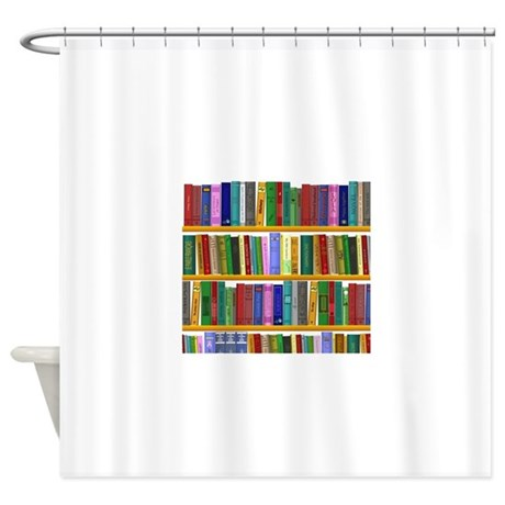 how to put curtains on a bookshelf
