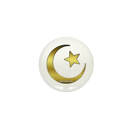 Gold Star and Crescent Mini Button (10 pack)