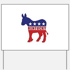 Kentucky Democrat Donkey Yard Sign