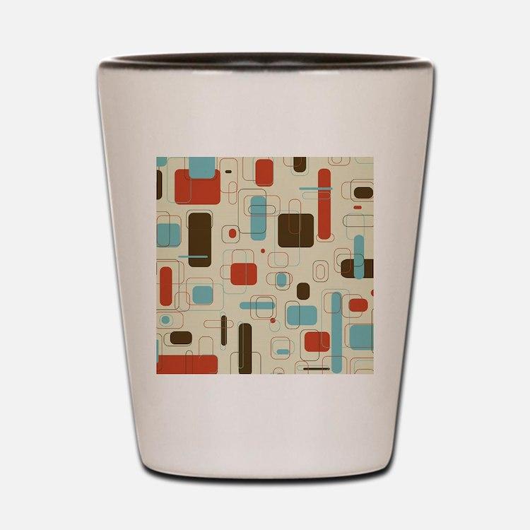 Colorful Modern Geometric Abstract Art  Shot Glass