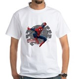 Spiderman Mens Classic White T-Shirts