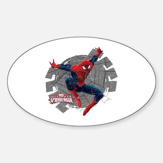 Spiderman Web Sticker (Oval)