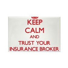 Keep Calm and trust your Insurance Broker Magnets
