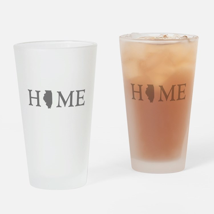 Illinois Home State Drinking Glass