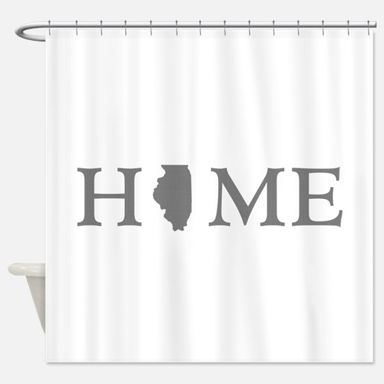 Illinois Home State Shower Curtain
