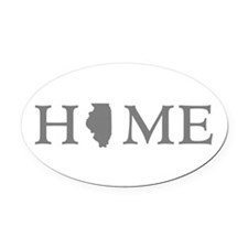 Illinois Home State Oval Car Magnet
