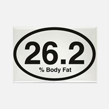 26.2 % body fat Rectangle Magnet