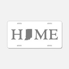 Indiana Home Aluminum License Plate