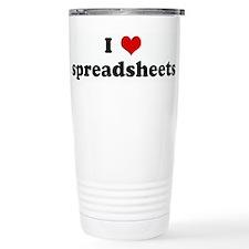 Cute I love spreadsheets Travel Mug