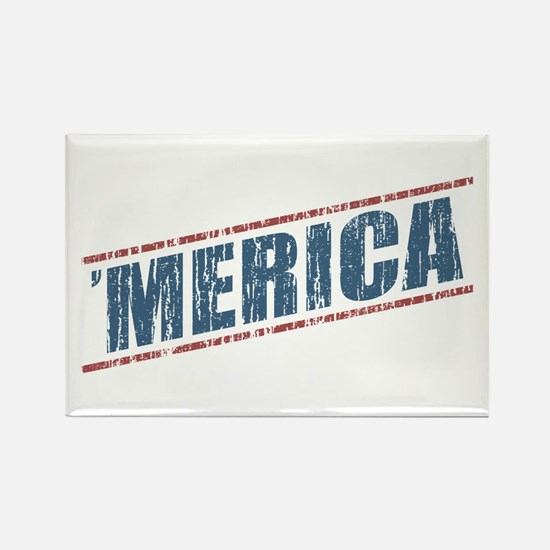 Vintage 'Merica Rectangle Magnet