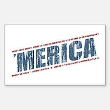 Vintage 'Merica Sticker (Rectangle)