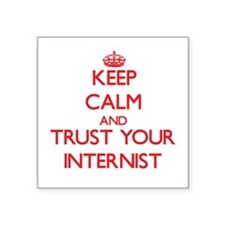 Keep Calm and trust your Internist Sticker