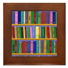 Bookshelf Framed Tile