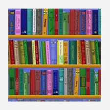Bookshelf Tile Coaster
