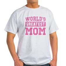 [Pink] World's Greatest Mom T-Shirt