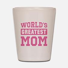[Pink] World's Greatest Mom Shot Glass