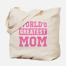 [Pink] World's Greatest Mom Tote Bag