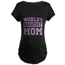 Worlds Greatest Mom Vintage Maternity T-Shirt