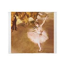 Ballet Dancer Degas Impressionist Painting Throw B