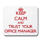 Office manager Mouse Pads