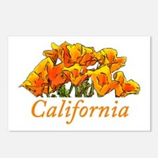 Stylized California Poppi Postcards (Package of 8)