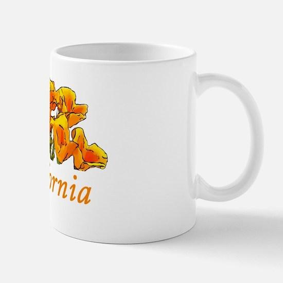 Stylized California Poppies Mug