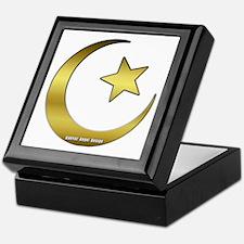 Gold Star and Crescent Keepsake Box