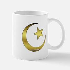 Gold Star and Crescent Mug