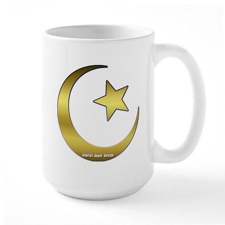 Gold Star and Crescent Large Mug