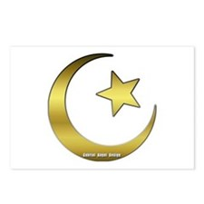 Gold Star and Crescent Postcards (Package of 8)