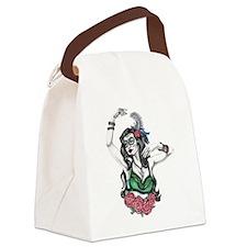 Sugar Skull Gyspy Canvas Lunch Bag