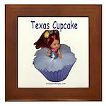 Texas Cupcake Framed Tile
