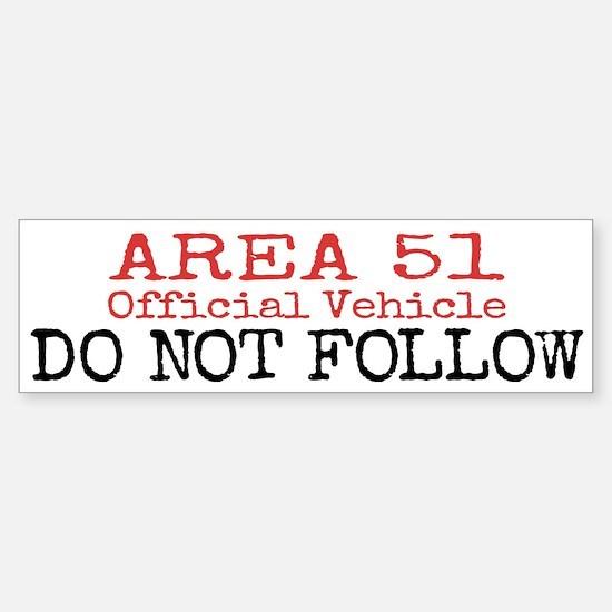Area 51 Official Vehicle Bumper Bumper Bumper Sticker