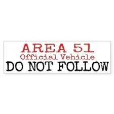 Area 51 Official Vehicle Bumper Bumper Sticker