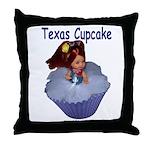 Texas Cupcake Throw Pillow