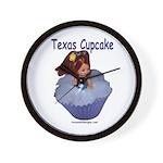 Texas Cupcake Wall Clock