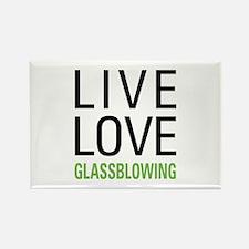 Live Love Glassblowing Rectangle Magnet