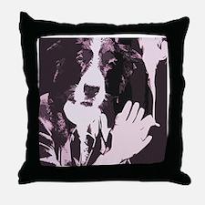 Smoking Dog Throw Pillow