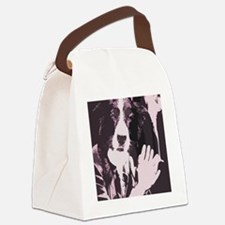 Smoking Dog Canvas Lunch Bag