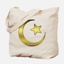 Gold Star and Crescent Tote Bag