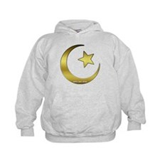 Gold Star and Crescent Hoodie