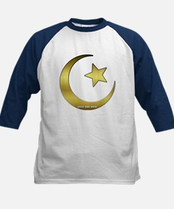 Gold Star and Crescent Kids Baseball Jersey