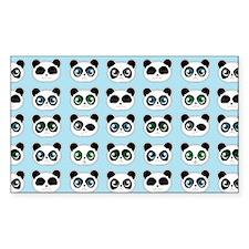 Cute Panda Expressions Pattern Decal