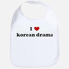 I Love korean drama Bib